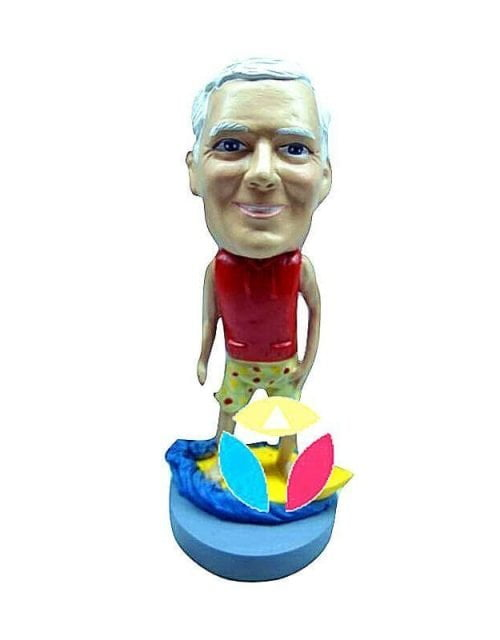 Personalized Male Surfing Bobbleheads