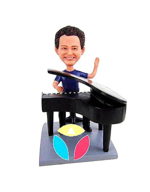 Piano Player raise hand Custom Bobblehead