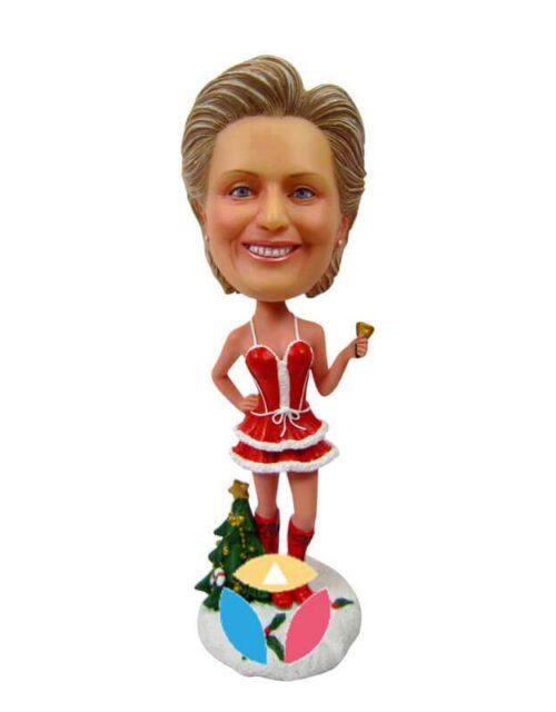 Santa dress personalized dolls