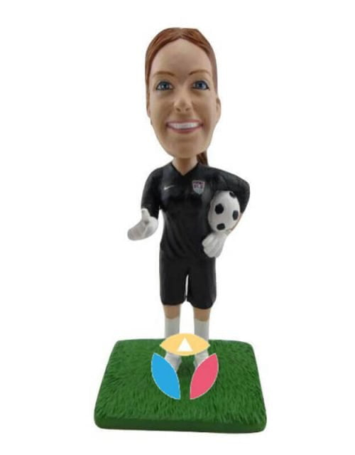 Scoccer Player Coach Custom Bobbleheads