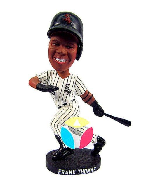 Sox Baseball Player Batting Bobblehead Doll
