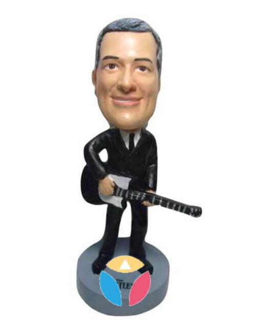 Suit And Guitar Custom Bobblehead