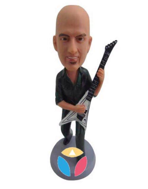 V Guitar Player Custom Bobblehead