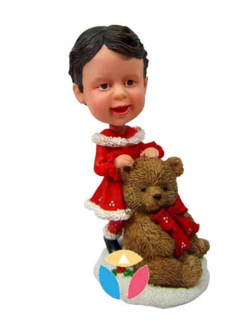 Xmas santa with teddy