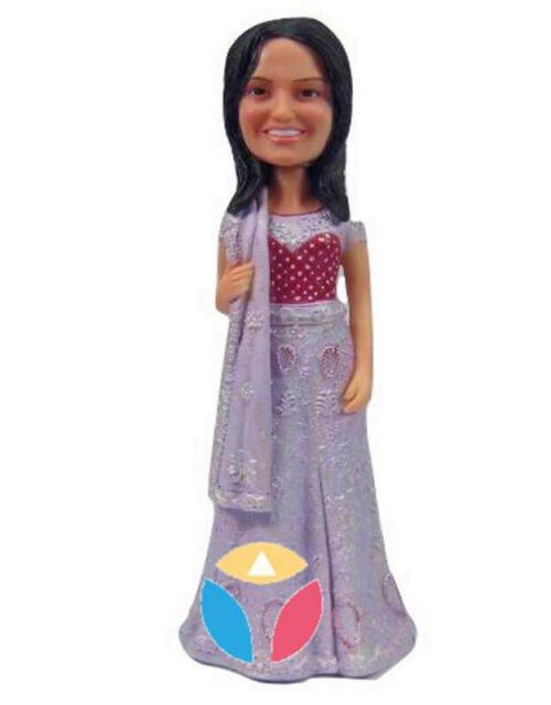 Custom Bride In India Dress Bobblehead