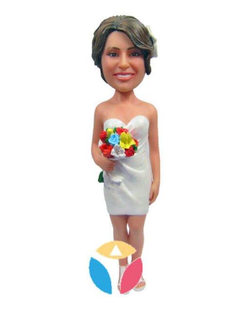 Custom Bride In Skirt Bobblehead