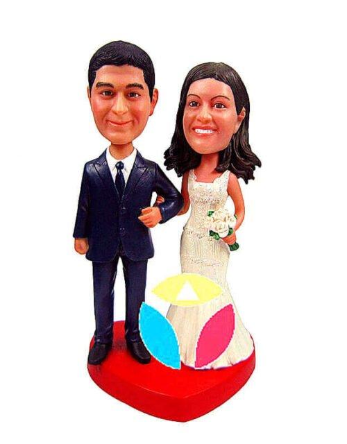 Custom Bride and Groom Cake Topper bobbleheads