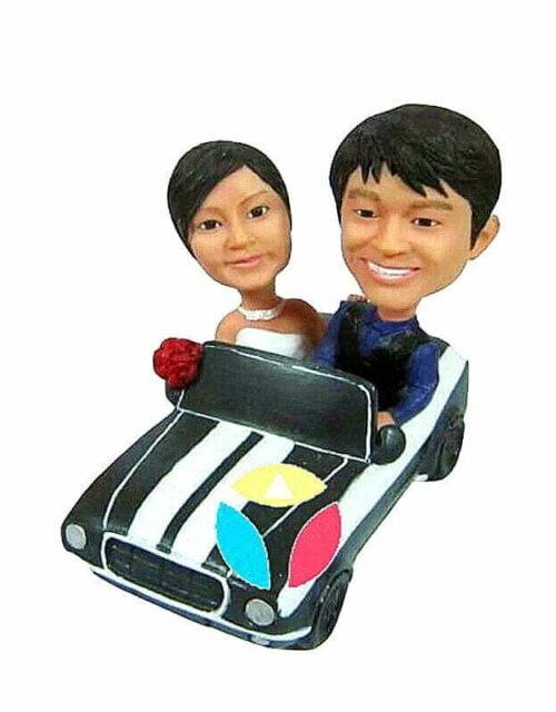 Custom Couple In The Car Bobblehead
