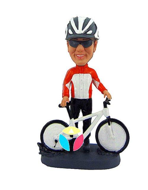 Custom Cyclist Bobblehead Doll