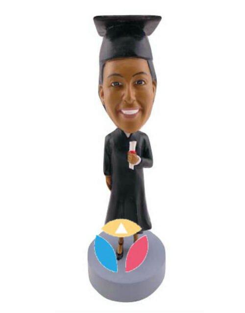 Custom Female Get diploma bobblehead Doll
