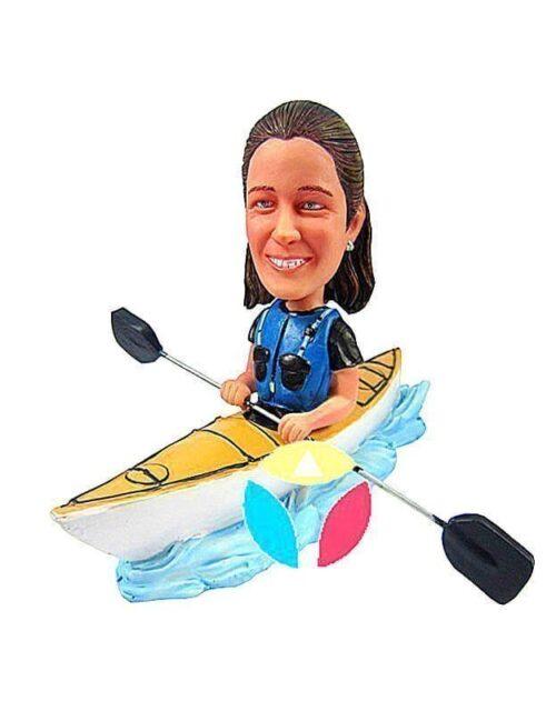 Custom Female Kayak Bobblehead