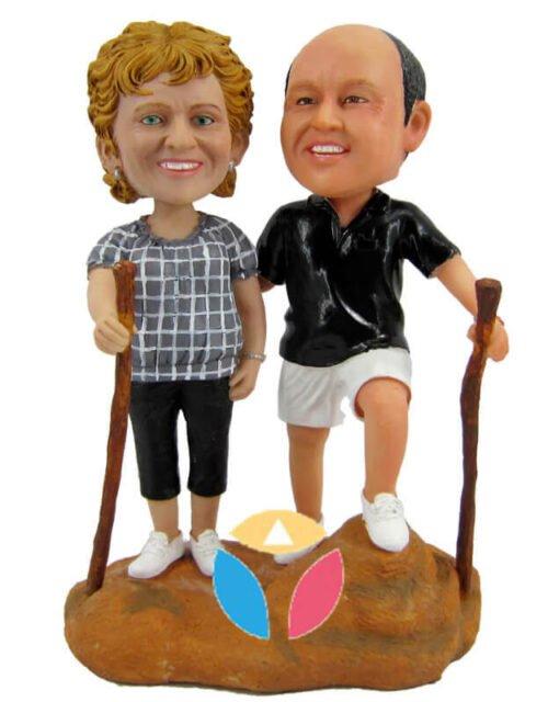 Custom Journey Couple Bobbleheads