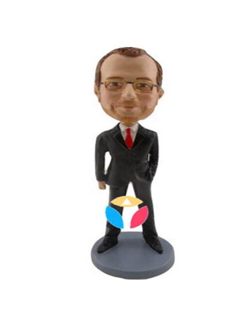 Custom Laid Back Businessman bobblehead Doll