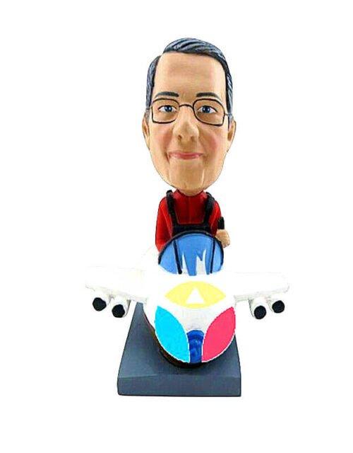 Custom Male Driving Plane Bobbleheads
