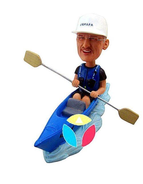 Custom Male Kayak Bobblehead