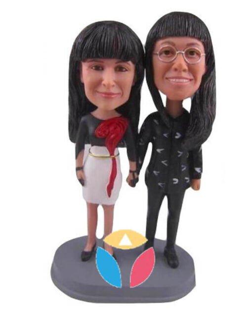 Custom Mum And Daughter Bobbleheads