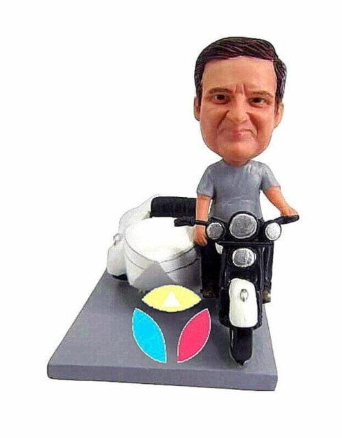 Custom Tri-motorcycle Bobble Head