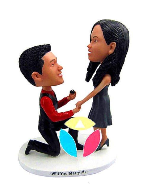 Custom Wedding Proposal bobbleheads