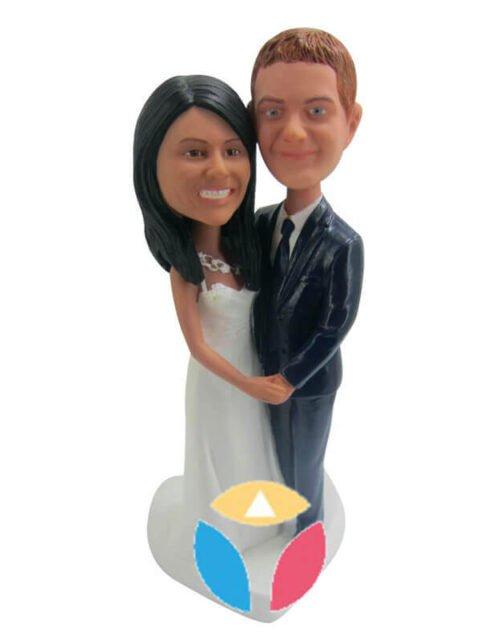 Custom wedding couple bobble head doll