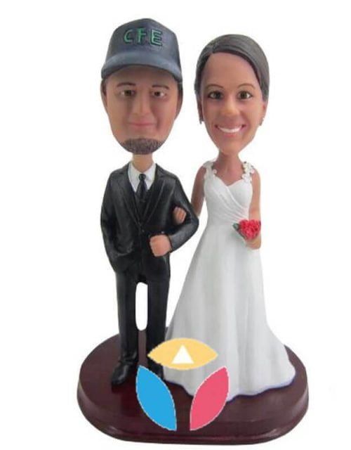 Customized Bobblehead Cake Toppers