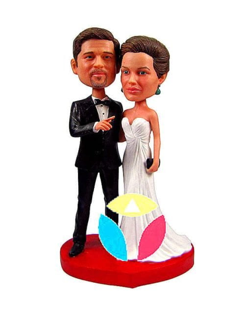 Customized Dignified Bride And Husband Couple Dolls