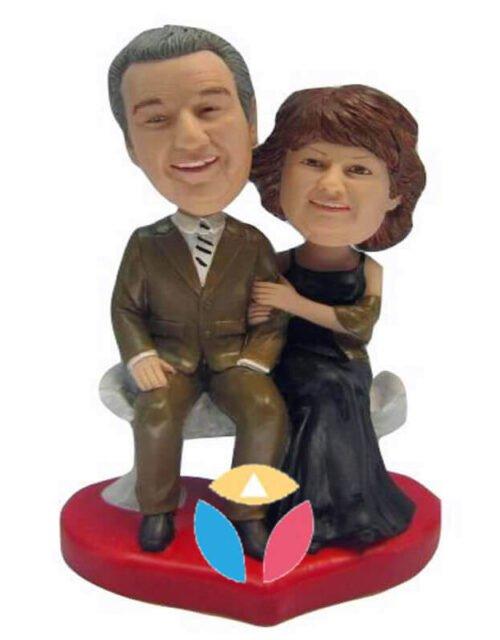 Customized Parents Couple Bobbleheads