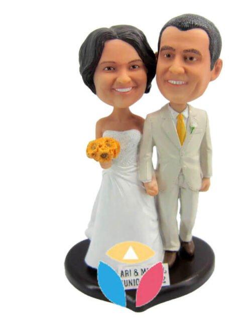 Customized Wedding Couple Wobble Head Doll