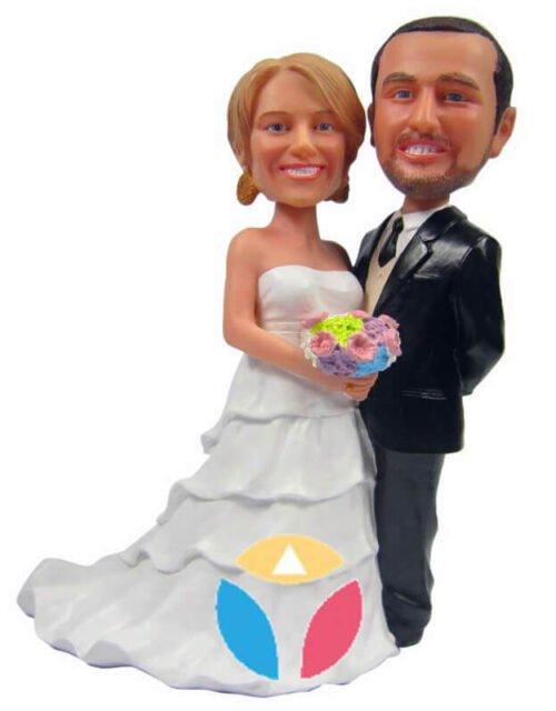 Dressed Up couple custom bobblehead doll