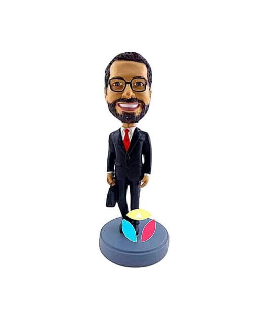 Executive With Briefcase Custom Bobblehead