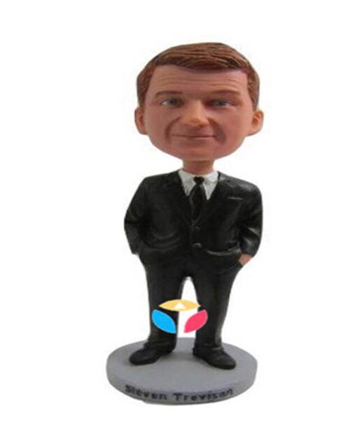 Hands In Pocket In Suit Bobblehead
