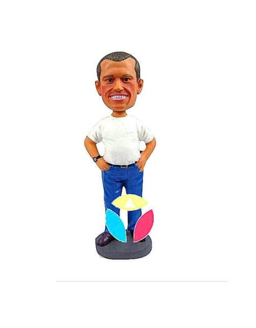 Hands On Hip Custom Bobble Head