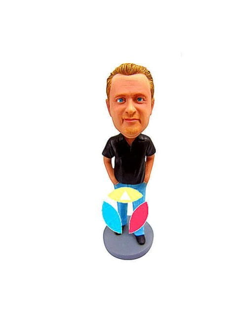 Hands in pocket custom bobblehead