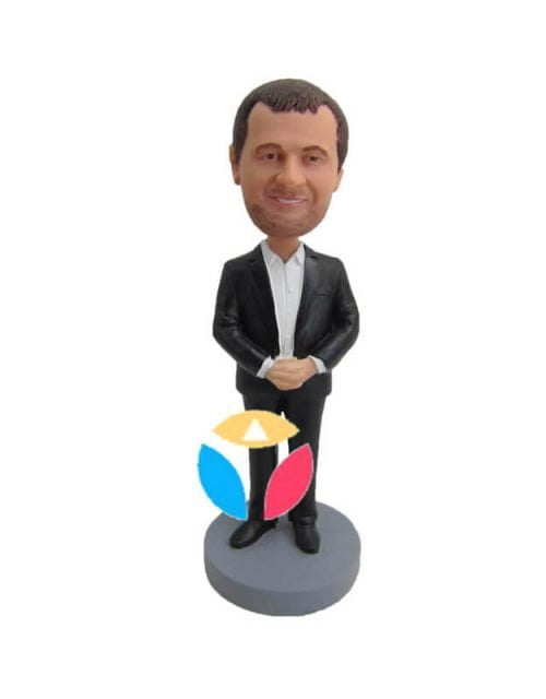 Hold hands in front bobblehead doll