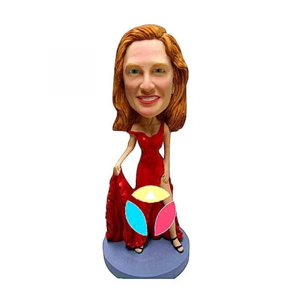 Leggy Dress Female Custom Bobblehead Doll