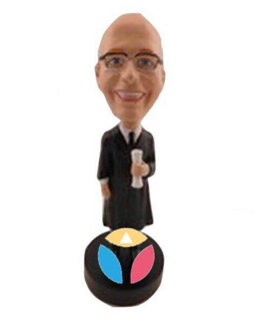 Male Graduate Custom Bobblehead Doll