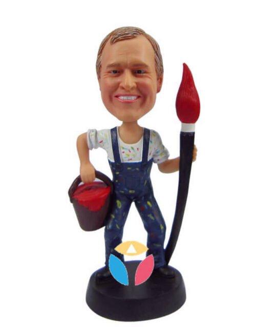 Male Painter Custom Bobblehead Doll