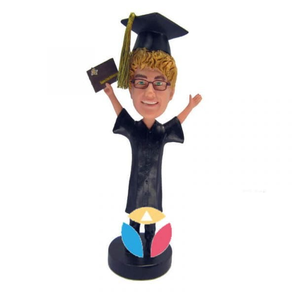 Male graduation custom bobble head