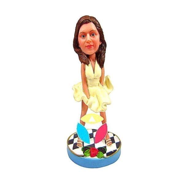 Monroe Dress Female Custom bobblehead Doll