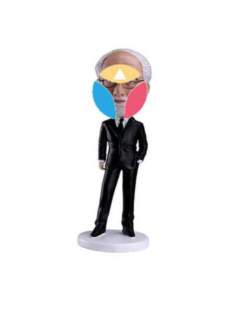Nice Black Suit Custom Bobble head