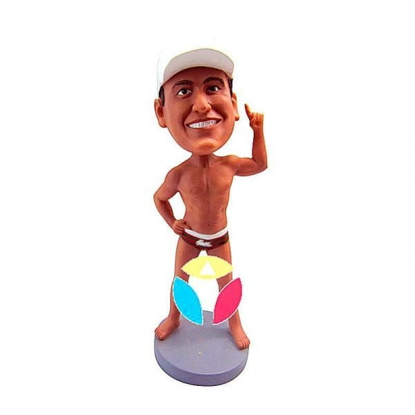 Nude Man With Finger out Custom Bobblehead