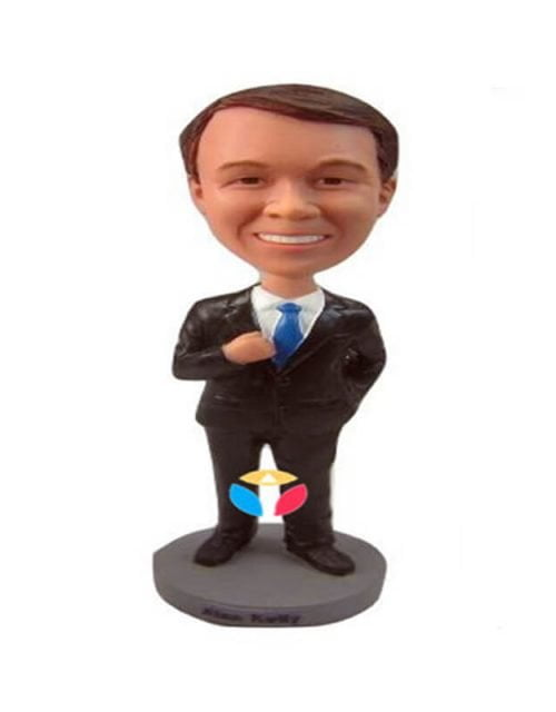 One Hand Hold Suit Bobble head