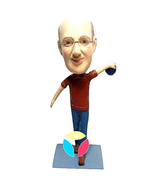 Personalized Bowling Ball Sports Bobblehead Doll