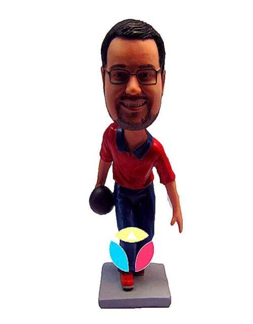Personalized Bowling Ball Sports Bobbleheads