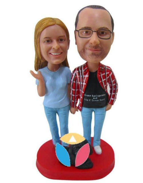 Personalized Casual Couple Bobbleheads