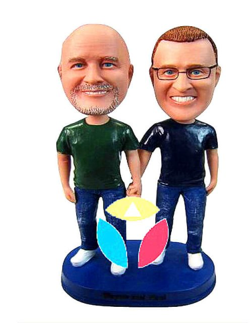 Personalized Hands In Hands Couple Bobblehead