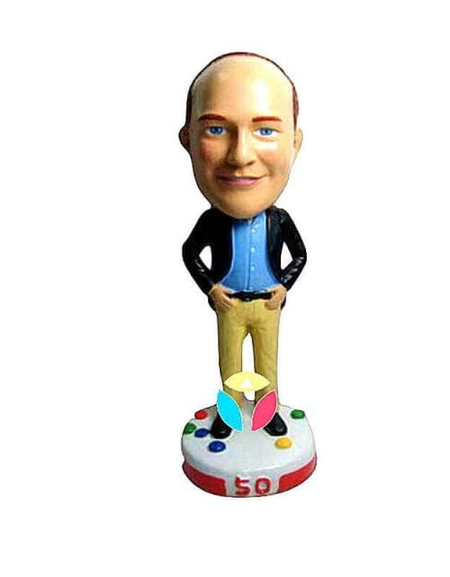 Personalized Male Birthday Bobblehead
