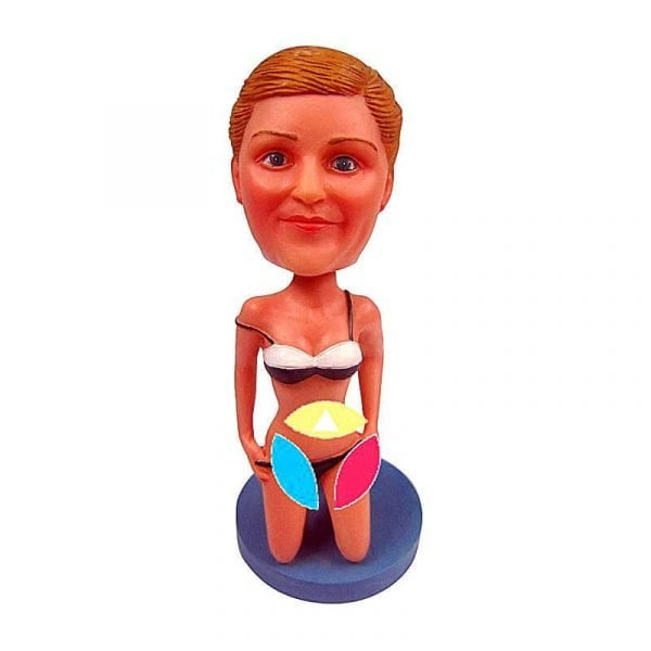 Personalized Sexy Bikini Woman bobblehead Doll