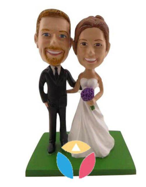 Personalized Wedding Couple Bobbleheads