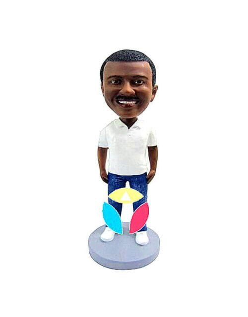 Polo Shirt With Hands By Side Custom Bobbleheads