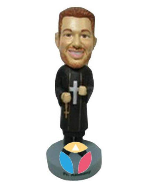 Priest Holding Cross Custom Bobblehead Doll